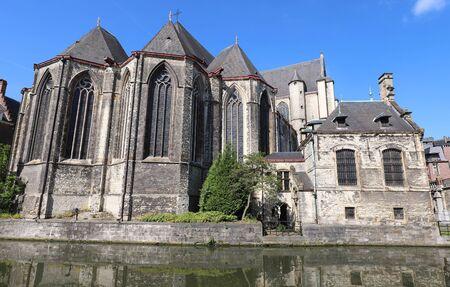 Saint Michaels Church -Sint-Michielskerk is a Roman Catholic church in the historical city centre of Ghent, Belgium. Banco de Imagens