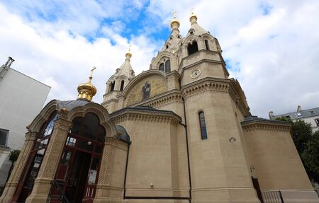 The Alexander Nevsky Cathedral is a Russian Orthodox cathedral church located in the 8th arrondissement of Paris. It was established and consecrated in 1861, making it the first Russian Orthodox place of worship in France.