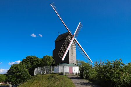 A windmill located in the city of Bruges, Belgium