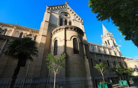 The Catholic Saint Pierre church in Neuilly-sur-Seine , France. Фото со стока