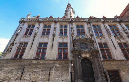 Famous place of worship -Jan van Eyckplein church in Bruges - Belgium