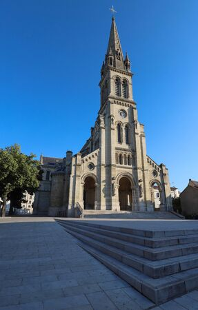 Church located in the city of Argenteuil and named Basilique Saint Denys. France. Фото со стока