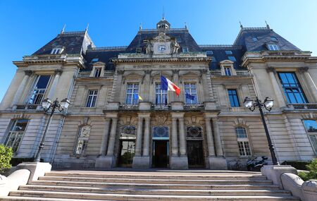 The town hall of Saint-Maur-des-Fosses city . it is a commune in the southeastern suburbs of Paris, France. It is located 11.7 kilometres from the center of Paris. France.