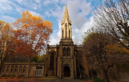 The Catholic chapel of Jeanne dArc at autumn, Paris, France.