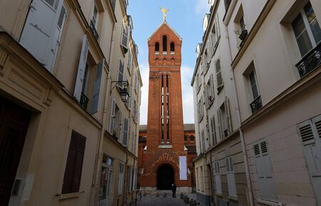 The Saint-Michel des Batignolles is a catholic church located in the 17th arrondissement of Paris. 版權商用圖片