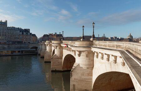 The Pont Neuf -New Bridge and Seine river, Paris, France.