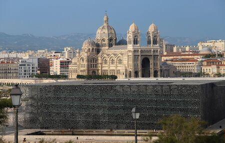 The view of the cathedral of Marseille, Sainte-Marie-Majeure, also known as La Major.
