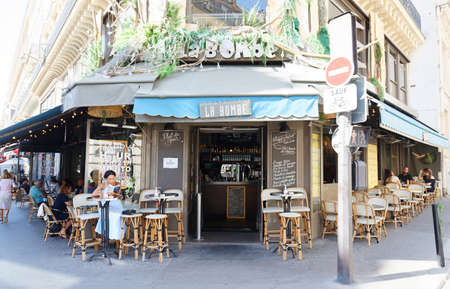 The Bomb, the cafe-restaurant located in famous the district of the Opera , Paris, France.