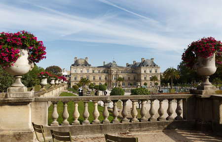 The famous Luxembourg palace- French Senate, Paris, France.