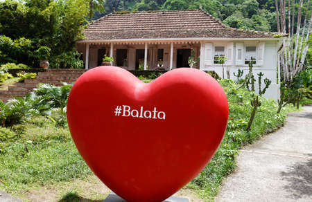 The giant sign of heart in garden of Balata, Martinique island, French West Indies.