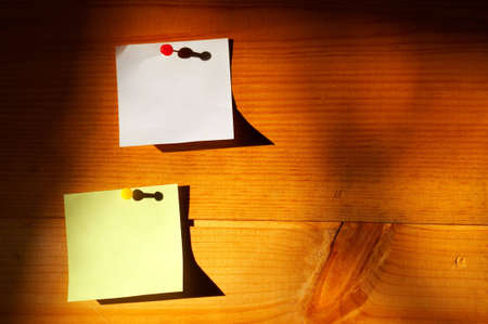 affixed: Colorful blank post-it notes affixed