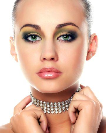 Diamonds and beautiful girl