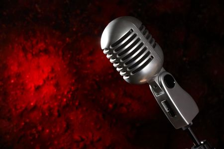 Retro Microphone Stok Fotoğraf