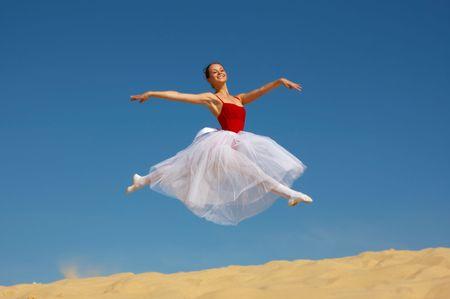 Young wonderful ballerina Stok Fotoğraf