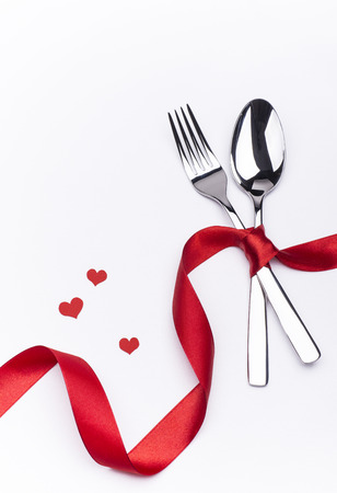 Valentines Day dinner set Stock Photo