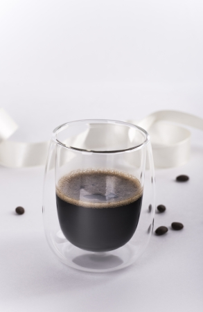 resistant: Espresso in a heat-resistant glass Stock Photo