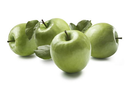 granny smith: Green cooking apples Granny Smith isolated on white background horizontal