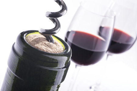 alcohol screwdriver: Red wine and bottle opener