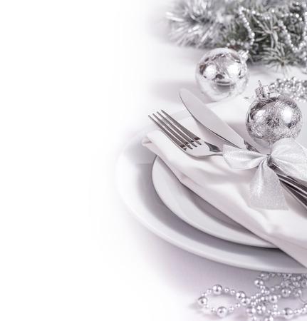 新年用に設定銀のテーブル