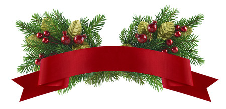 header image: Festive christmas and new year element of design for celebration menu, invitation, poster