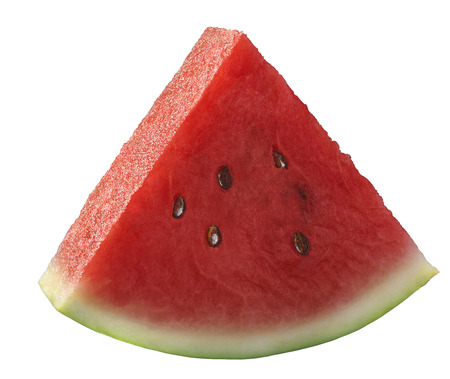 Single watermelon piece isolated on white background as package design element Imagens - 31606318