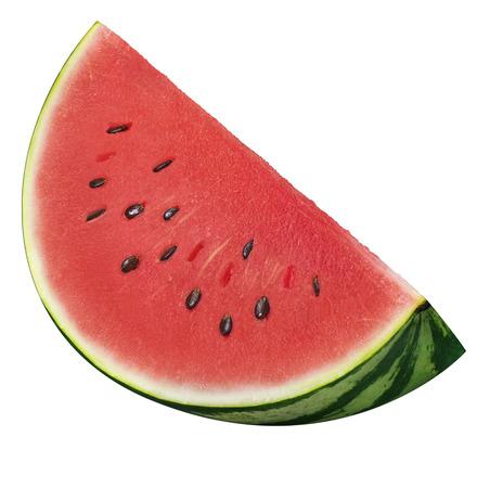Watermelon quarter slice isolated on white background as package design element Standard-Bild