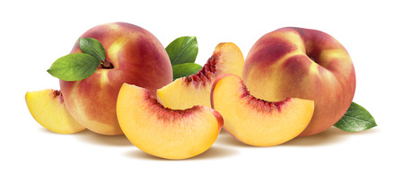 Peach group horizontal isolated on white background as package design element