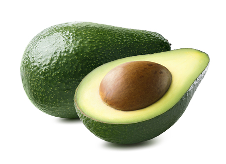 Avocado horizontal 10 isolated on white background as package design element
