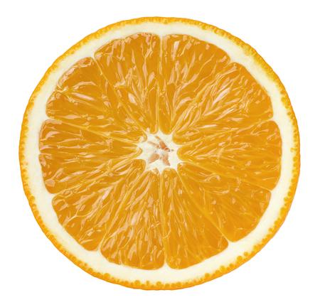 오렌지 절반 패키지 디자인 요소로 흰색 배경에 고립 된 잘라 내기