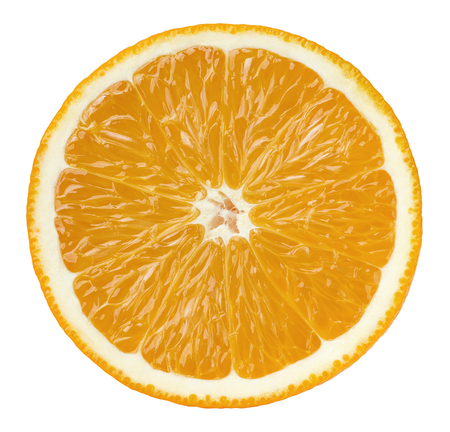 Orange half cut isolated on white background as package design element