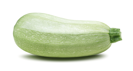 marrow squash: Single squash vegetable marrow zucchini isolated as package design element Stock Photo