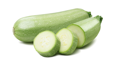 marrow squash: Squash vegetable marrow zucchini isolated 4 on white background as package design element Stock Photo