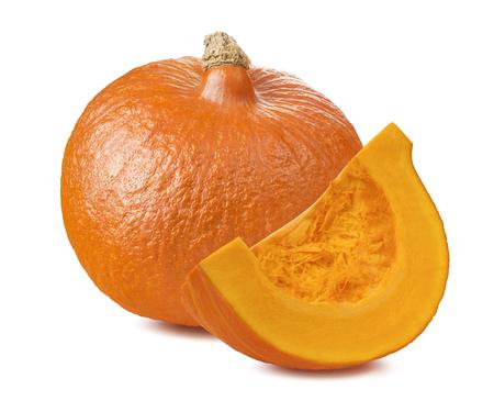 segmento: Pumpkin whole segment piece 1 isolated on white background as package design element