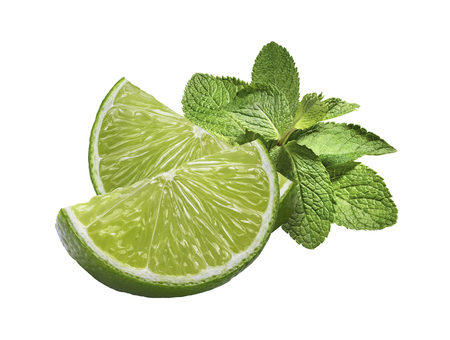 isolated on white: Lime mint horizontal isolated on white background as package design element