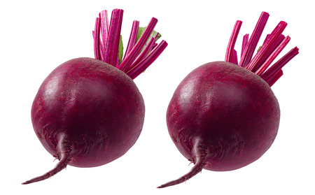 Beet root set isolated on white background. Package design element with clipping path