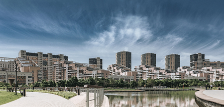 Modern city district.