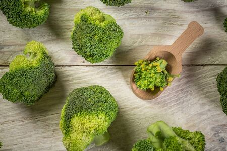 broccoli background. Broccoli vegetable is full of vitamin. Vegetables for diet and healthy eating. Organic food. Reklamní fotografie