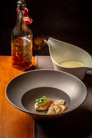 Chicken fillet or Turkey breast. Delicious homemade food. 写真素材