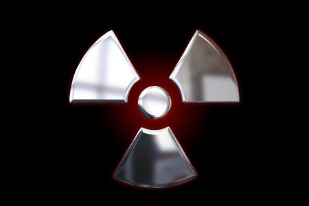 Metallic Alert Sign - Radiation Stock Photo - 5612228