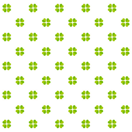 Vector illustration of cloverleafs, green pattern Vector