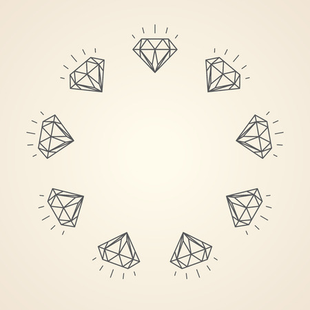 copyspace: Illustration of diamonds with copy-space Illustration