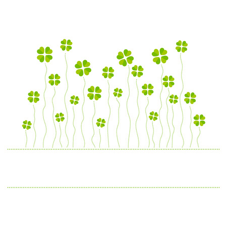 Vector illustration of cloverleafs Vector
