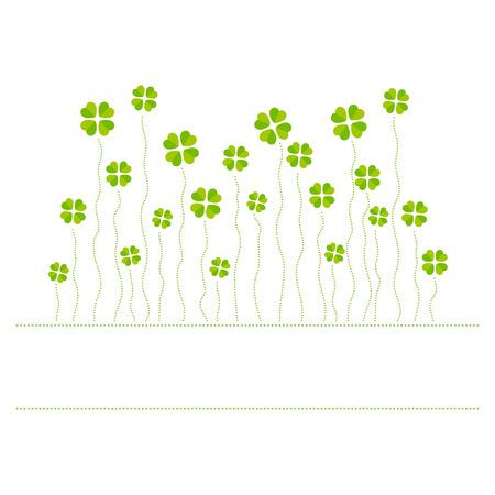 cloverleaf: Vector illustration of cloverleafs