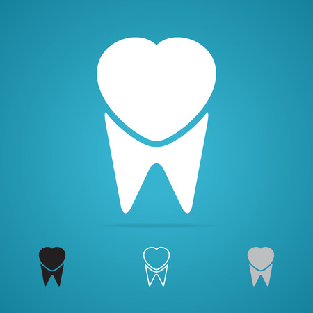 Symbol of tooth Vector