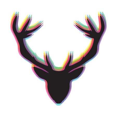 Deer head, vector illustration Vector