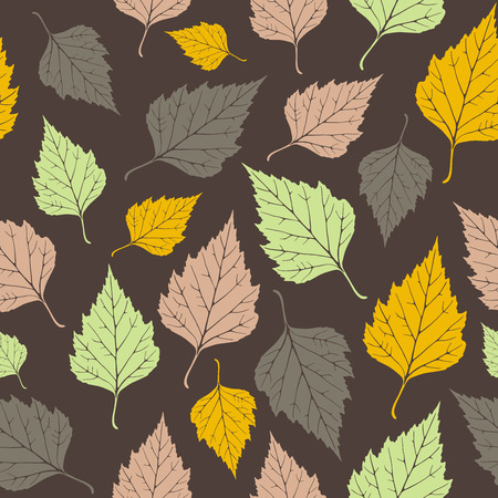 Leaf, seamless pattern Vector