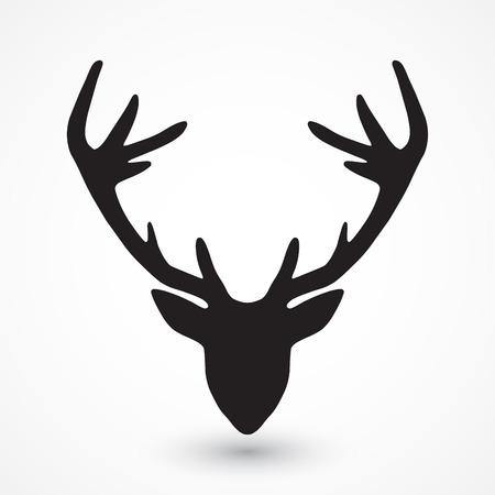schattenbilder tiere: Deer Kopf-Silhouette