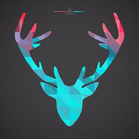 red head: Deer head