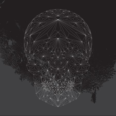 black skull: Geometric skull