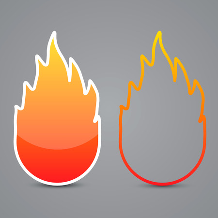 Fire buttons, vector illustration